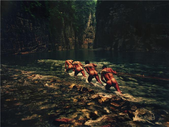 【神农溪纤夫】神农溪纤夫摄影,神农溪裸体纤夫摄影